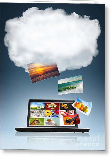 Internet Greeting Cards - Cloud Technology Greeting Card by Carlos Caetano