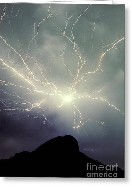 Arizona Lightning Greeting Cards - Cloud To Cloud Lightning Greeting Card by Frank Zullo