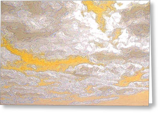 Abstract Rain Greeting Cards - Cloud Topography Yellow Greeting Card by Ann Johndro-Collins