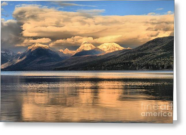 Lake Mcdonald Greeting Cards - Cloud Wall Greeting Card by Adam Jewell