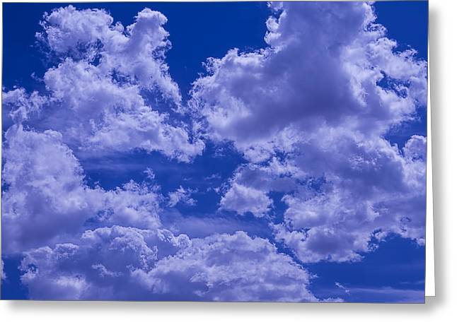 Billowing Greeting Cards - Cloud Watching Greeting Card by Garry Gay