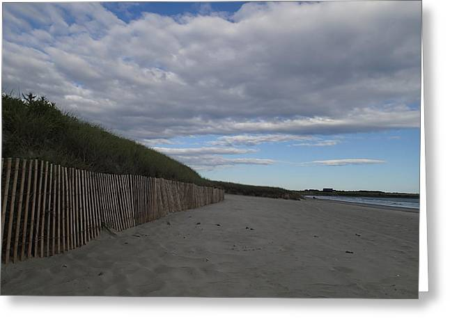 Robert Nickologianis Greeting Cards - Clouded Beach Greeting Card by Robert Nickologianis