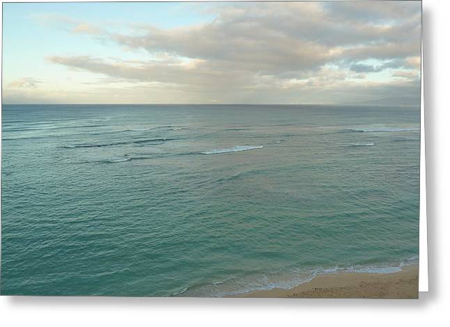Meditative Greeting Cards - Clouded Sea Greeting Card by Connie Handscomb