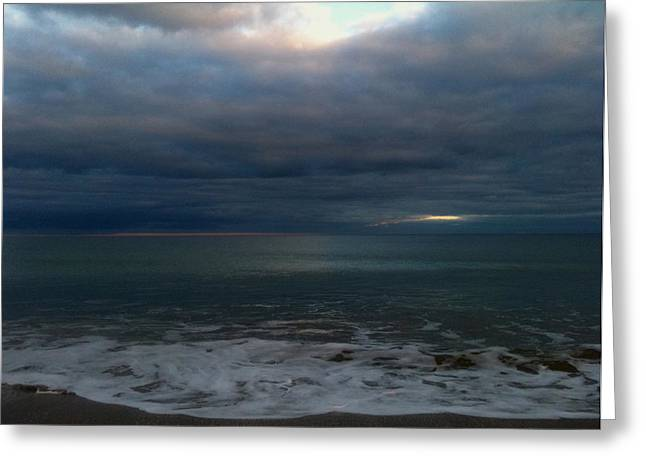 Sun Breaking Through Clouds Photographs Greeting Cards - Clouded Window Greeting Card by Amanda Lee Tzafrir