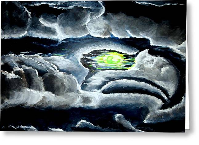 Cheap Paintings Greeting Cards - Cloudhawk Greeting Card by Khanda Lewis