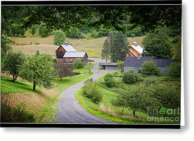 Sleepy Greeting Cards - Cloudland Farm Woodstock Vermont Greeting Card by Edward Fielding