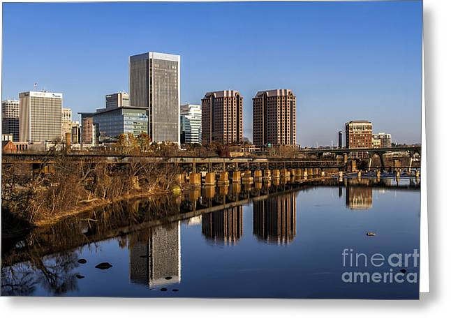 Richmond Va Greeting Cards - Cloudless Greeting Card by Tim Wilson