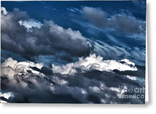 Turbulent Skies Greeting Cards - Clouds 1 Greeting Card by Claudia Mottram