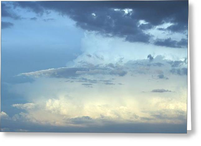 Gray Glass Greeting Cards - Clouds Aglow Greeting Card by Marsha Painter