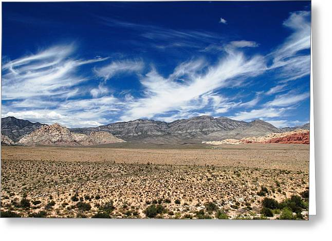 Nca Greeting Cards - Clouds and Desert Greeting Card by Christopher Rumar