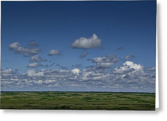 Alberta Prairie Landscape Greeting Cards - Clouds and Landscape in Alberta Canada Greeting Card by Randall Nyhof