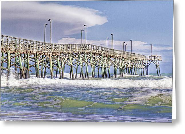 Clouds And Waves Greeting Card by Betsy C Knapp