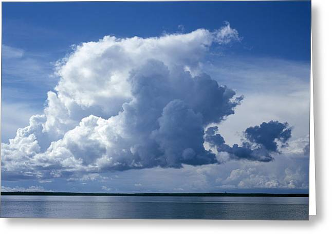 Calm Seas Greeting Cards - Clouds Greeting Card by Anonymous