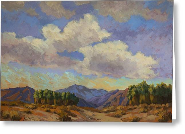 Preserves Greeting Cards - Clouds at Coachella Valley Greeting Card by Diane McClary