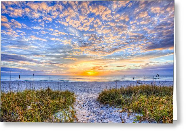 Florida House Greeting Cards - Clouds at Dawn Greeting Card by Debra and Dave Vanderlaan