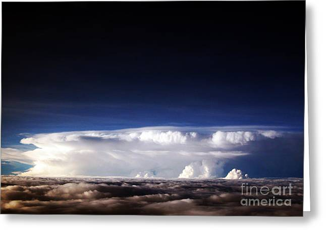 Cumulus Nimbus Greeting Cards - Clouds At Dusk Greeting Card by Tim Holt