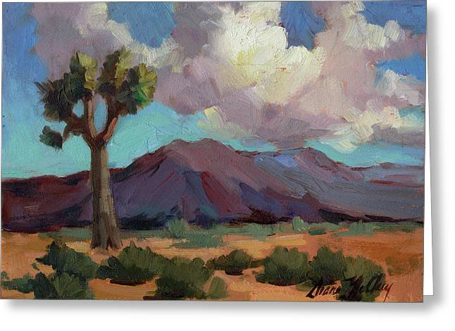 Sonoran Desert Greeting Cards - Clouds at Joshua Greeting Card by Diane McClary
