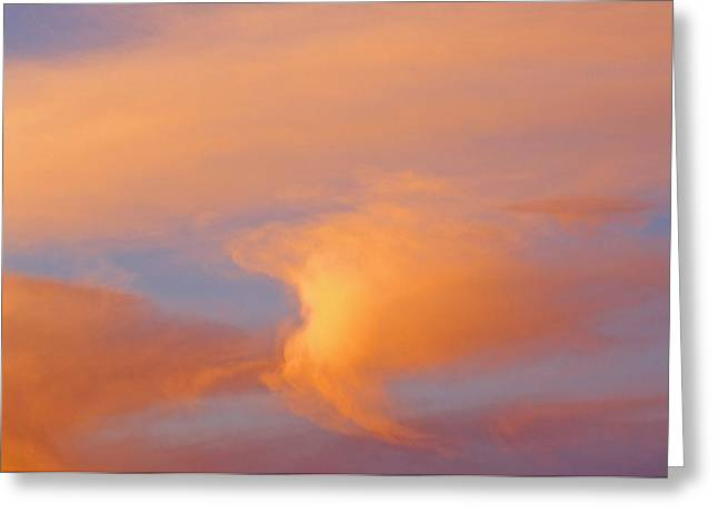 Nature Abstracts Greeting Cards - Clouds At Sunrise Greeting Card by Dan Sherwood