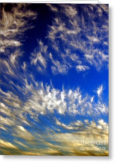 Justin Woodhouse Greeting Cards - Clouds at Sunset Greeting Card by Justin Woodhouse
