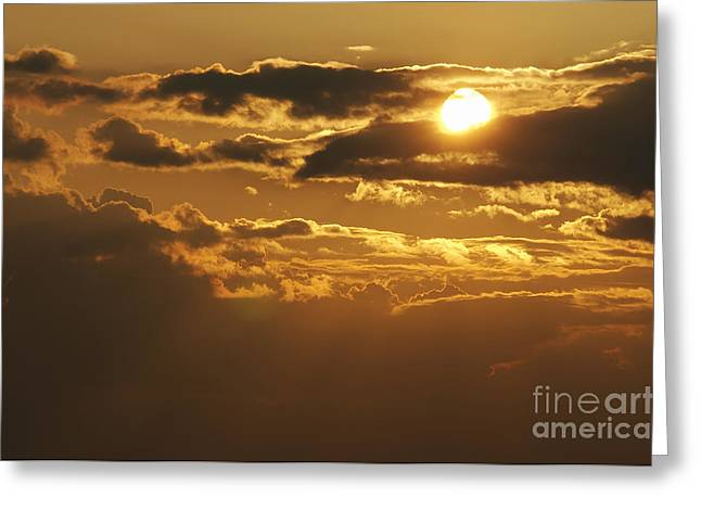Gloaming Greeting Cards - Clouds At Sunset Greeting Card by Michal Boubin