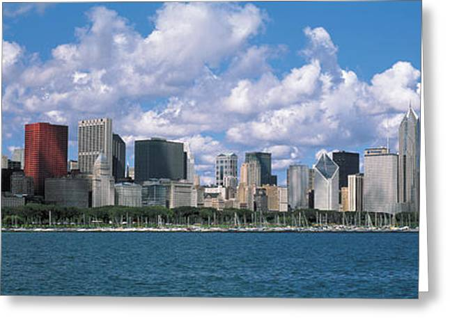 Docked Sailboat Greeting Cards - Clouds, Chicago, Illinois, Usa Greeting Card by Panoramic Images