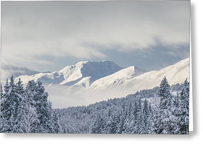 Winter Storm Greeting Cards - Clouds Clearing From The Kenai Greeting Card by Kevin Smith