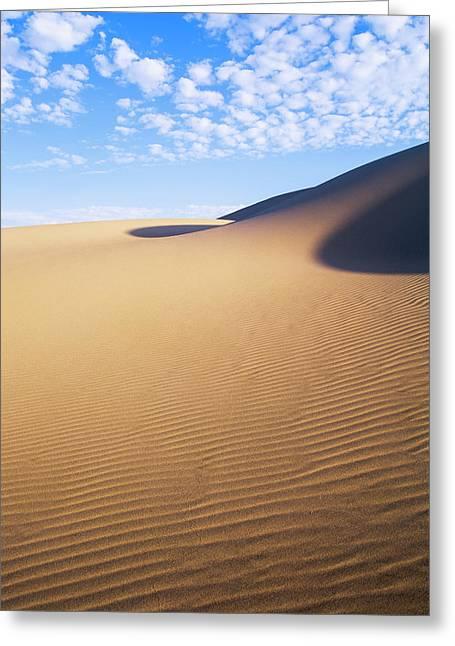 Clouds Drift Over The Umpqua Dunes Greeting Card by Robert L. Potts