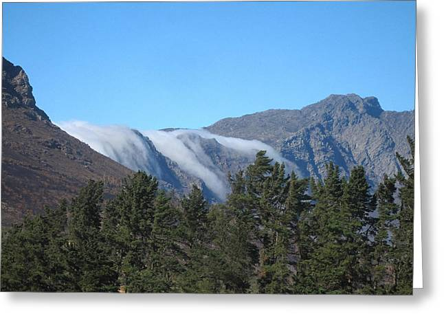 Rep Greeting Cards - Clouds Flowing Over the Mountains Greeting Card by Capt Gregory Daley