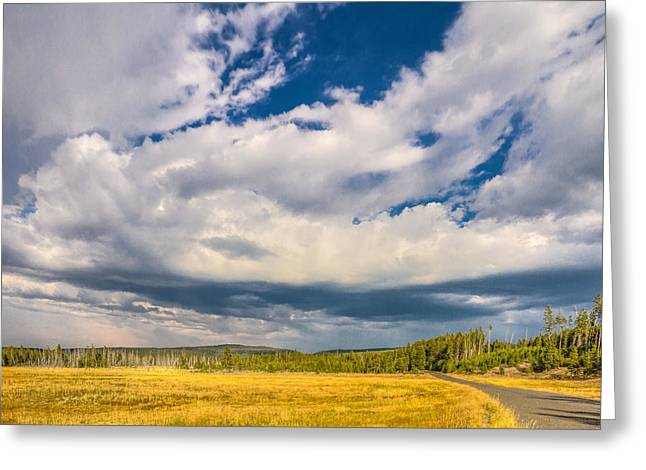 Yellowstone National Park Greeting Cards - Clouds Forever  Greeting Card by Jeff Donald