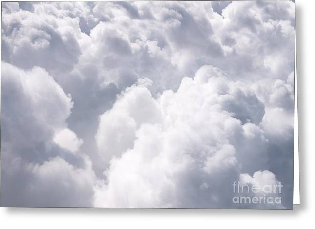 Clouds From Above Background Greeting Card by Paul Velgos