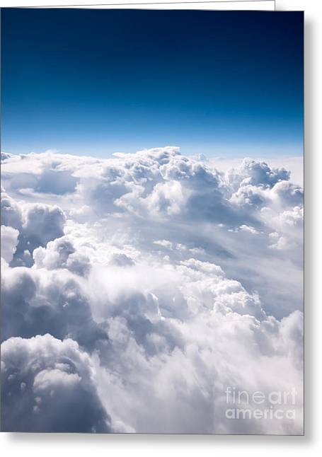 Fluffy Greeting Cards - Clouds From Above Greeting Card by Paul Velgos