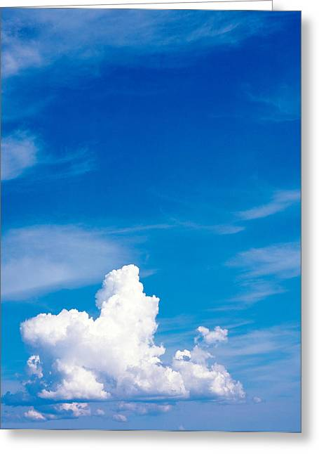 Cumulus Clouds Greeting Cards - Clouds In Sky Greeting Card by Panoramic Images