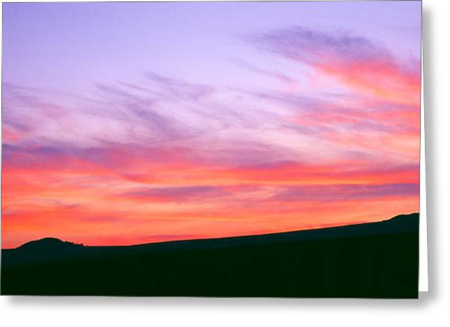 Dartmoor Greeting Cards - Clouds In The Sky At Dusk, Dartmoor Greeting Card by Panoramic Images