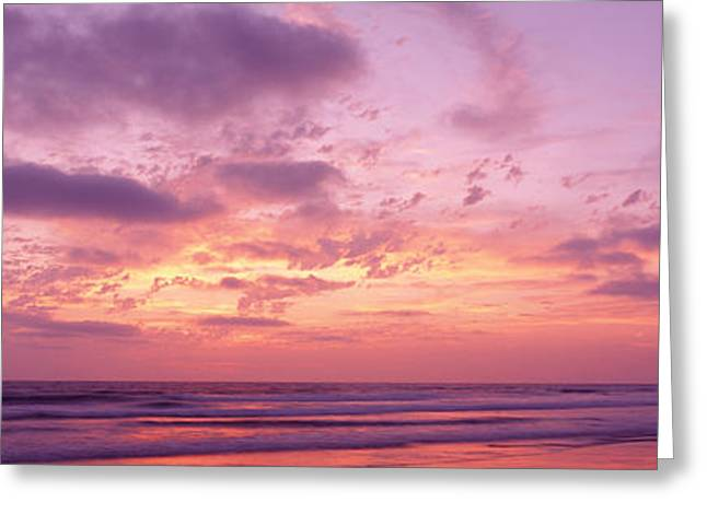 Color Photography Greeting Cards - Clouds In The Sky At Sunset, Pacific Greeting Card by Panoramic Images