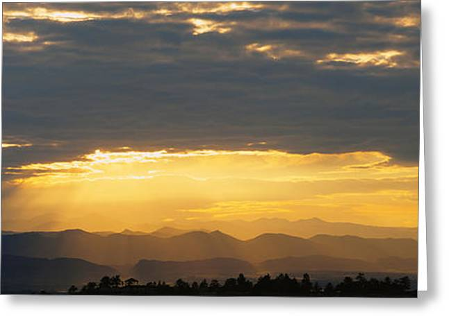 Daniel Photography Greeting Cards - Clouds In The Sky, Daniels Park Greeting Card by Panoramic Images
