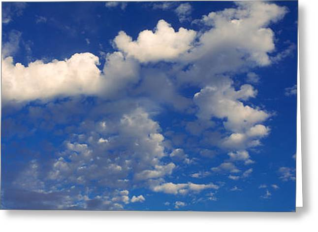 Cumulus Clouds Greeting Cards - Clouds In The Sky Greeting Card by Panoramic Images