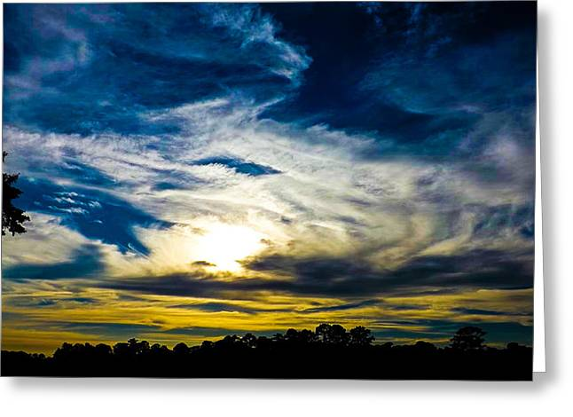 Sand Art Greeting Cards - Clouds Greeting Card by Keegan Hall