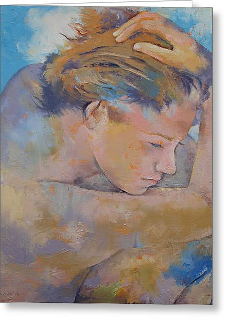 Mujer Greeting Cards - Clouds Greeting Card by Michael Creese