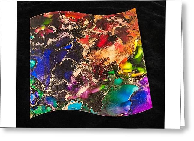 With Glass Art Greeting Cards - Clouds of Color Greeting Card by Belle-Lyssa  Crawford