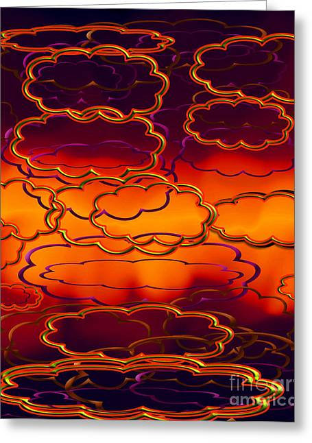 Acrylic Art Greeting Cards - Clouds Of Hues Greeting Card by Gayle Price Thomas