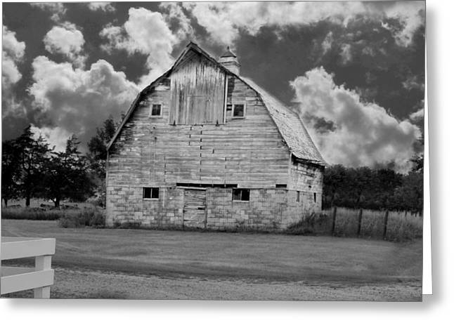 Rural Setting Greeting Cards - Clouds on the farm Greeting Card by Julie Hamilton
