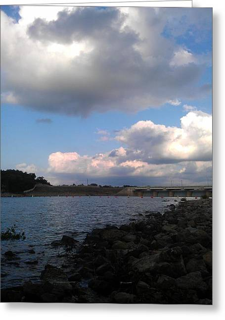 Branson Mo Greeting Cards - Clouds on water Greeting Card by Kim Martin