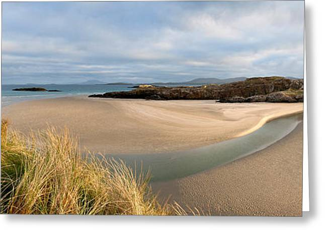 County Galway Greeting Cards - Clouds Over A Beach, Lettergesh Greeting Card by Panoramic Images