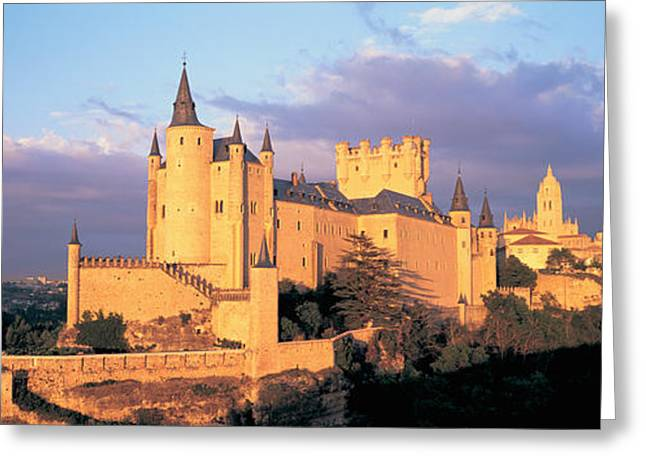 Overcast Day Greeting Cards - Clouds Over A Castle, Alcazar Castle Greeting Card by Panoramic Images