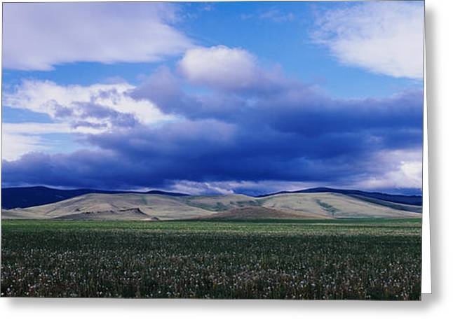 Overcast Day Greeting Cards - Clouds Over A Hill Range, Montana, Usa Greeting Card by Panoramic Images