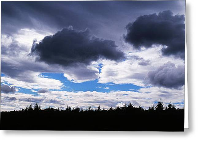 Overcast Day Greeting Cards - Clouds Over A Landscape, Iceland Greeting Card by Panoramic Images