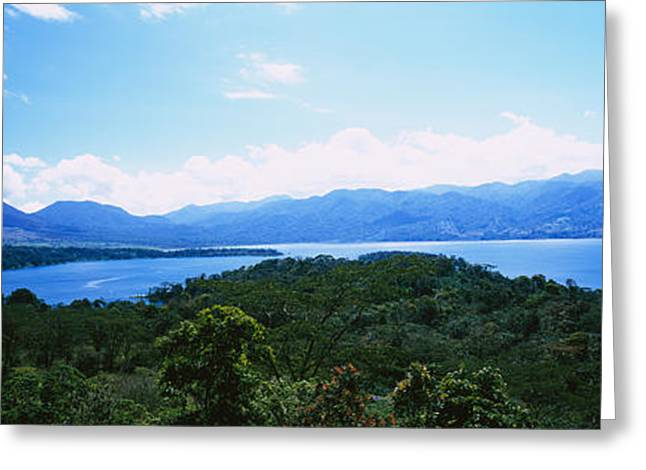 Foliage Image Greeting Cards - Clouds Over A Volcano, Arenal Volcano Greeting Card by Panoramic Images