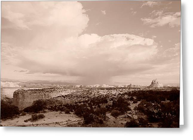 Capitol Greeting Cards - Clouds Over An Arid Landscape, Capitol Greeting Card by Panoramic Images