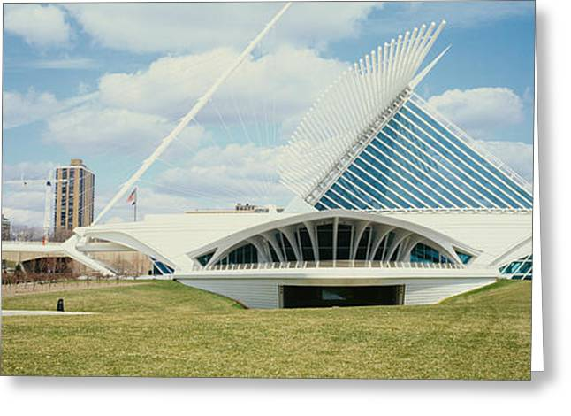 Milwaukee Art Museum Greeting Cards - Clouds Over An Art Museum, Milwaukee Greeting Card by Panoramic Images