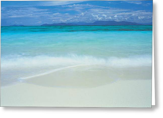 Panoramic Ocean Greeting Cards - Clouds Over An Ocean, Great Barrier Greeting Card by Panoramic Images